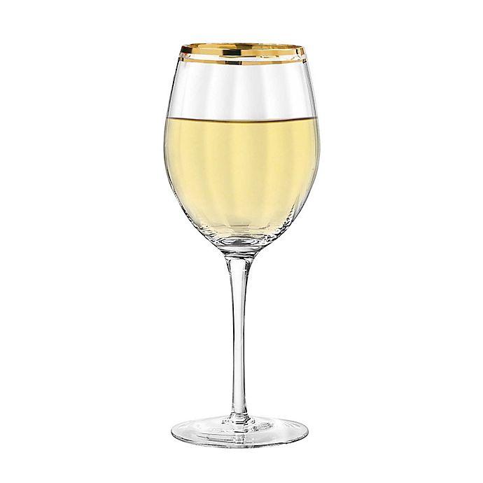 Alternate image 1 for Qualia Tivoli Gold All Purpose Wine Glasses (Set of 4)