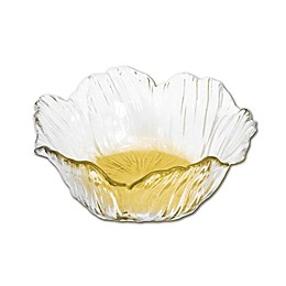 Classic Touch Flower-Shaped Dessert Plates (Set of 4)