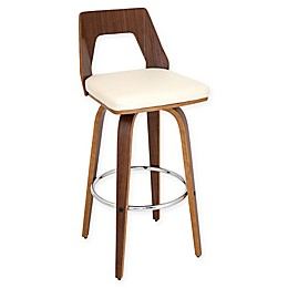 LumiSource Trilogy Bar Stools in Walnut (Set of 2)