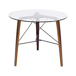 LumiSource Trilogy Bistro Table in Walnut