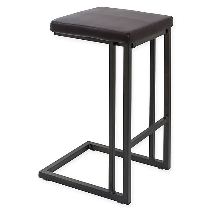 Alternate image 1 for LumiSource Roman Counter Stools in Black (Set of 2)