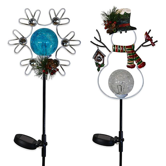 Solar Led Winter Stake Lights 2pk Bed Bath And Beyond Canada