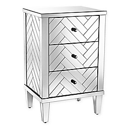 Sterling Industries Chatelet Collection Mirrored 3-Drawer Chest