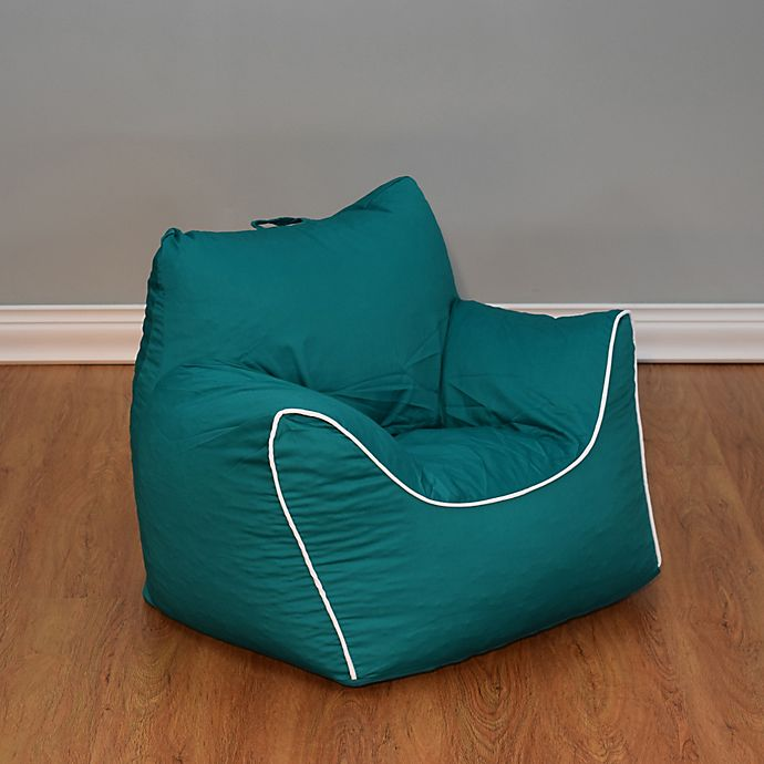 Pleasing Emerald Green Bean Bag Chair With Removable Cover Machost Co Dining Chair Design Ideas Machostcouk