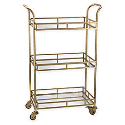 Sterling Industries Julep Series Retro Bar Cart in Gold