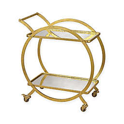 Sterling Industries Ring Bar Cart in Distressed Gold