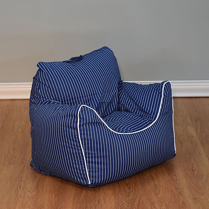 View A Larger Version Of This Product Image Click To Zoom Alternate 1 For Pinstripe Bean Bag Chair With Removable Cover