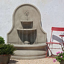 Campania Estancia Outdoor Wall Fountain in Stone