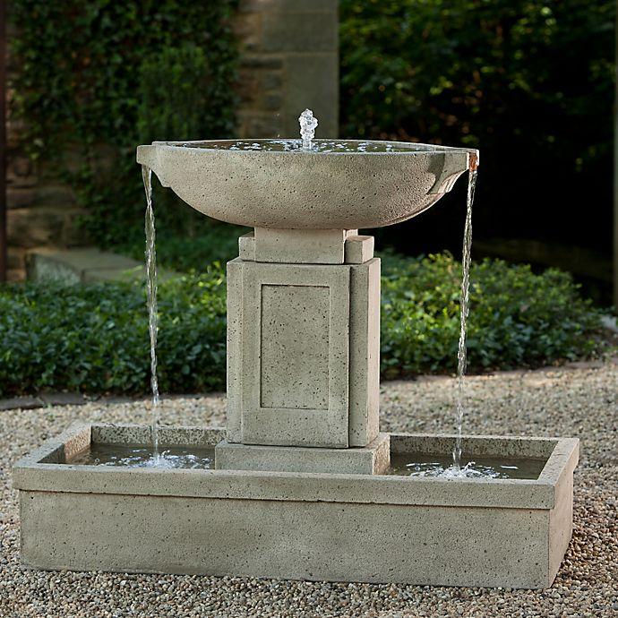 Alternate image 1 for Campania Austin Outdoor Fountain in Alpine Stone