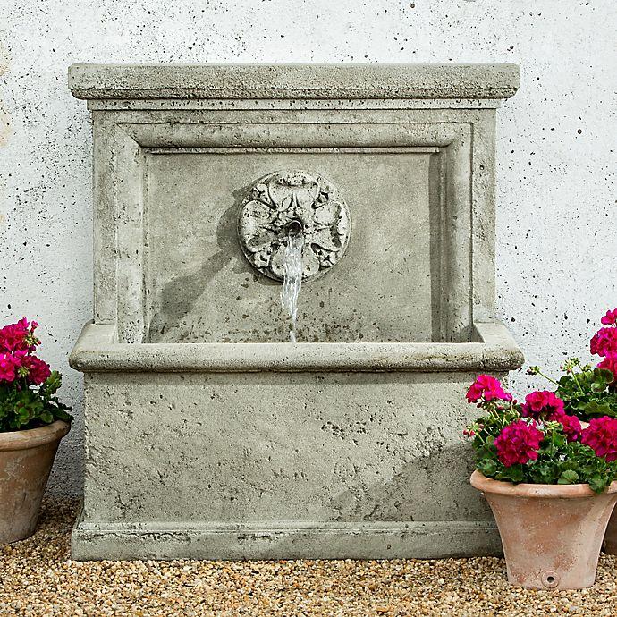 Alternate image 1 for Campania St. Aubin Outdoor Wall Fountain in Alpine Stone