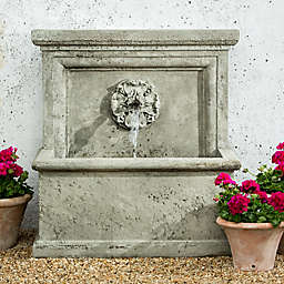 Campania St. Aubin Outdoor Wall Fountain in Alpine Stone