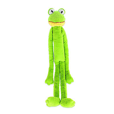 Swingin Slevins Frog Dog Toy in Green