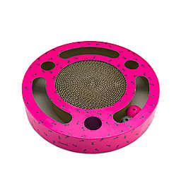 Argento Flat Cat Scratcher Pad with Balls in Pink