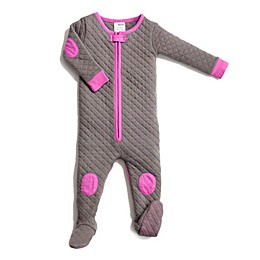 baby deedee® Sleepsie® Footed Pajama in Grey/Pink