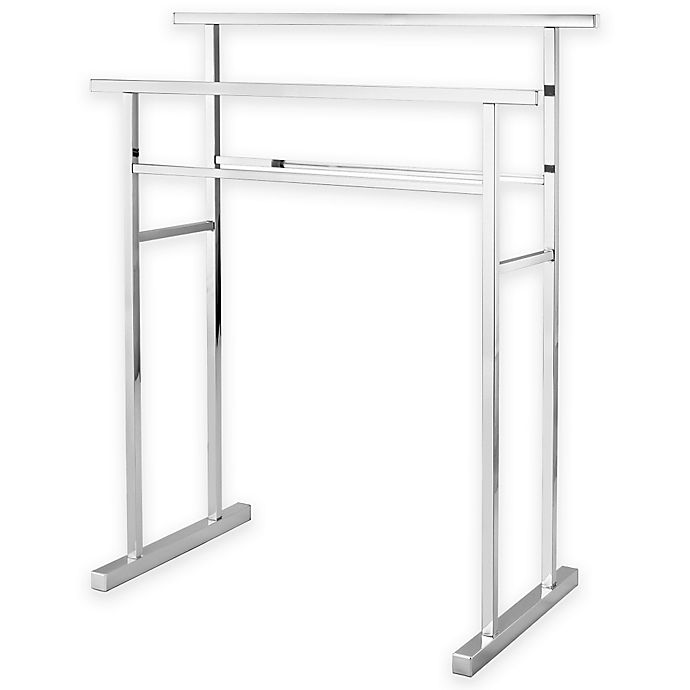 Alternate image 1 for Kingston Brass 2-Tier Freestanding Towel Rack