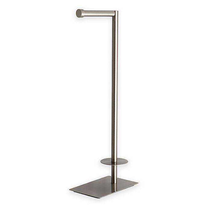 Alternate image 1 for Kingston Brass Claremont Freestanding Toilet Paper Holder in Satin Nickel