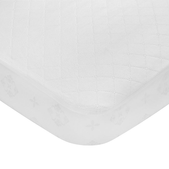 Alternate image 1 for carter's® Cotton Fitted Quilted Crib Pad