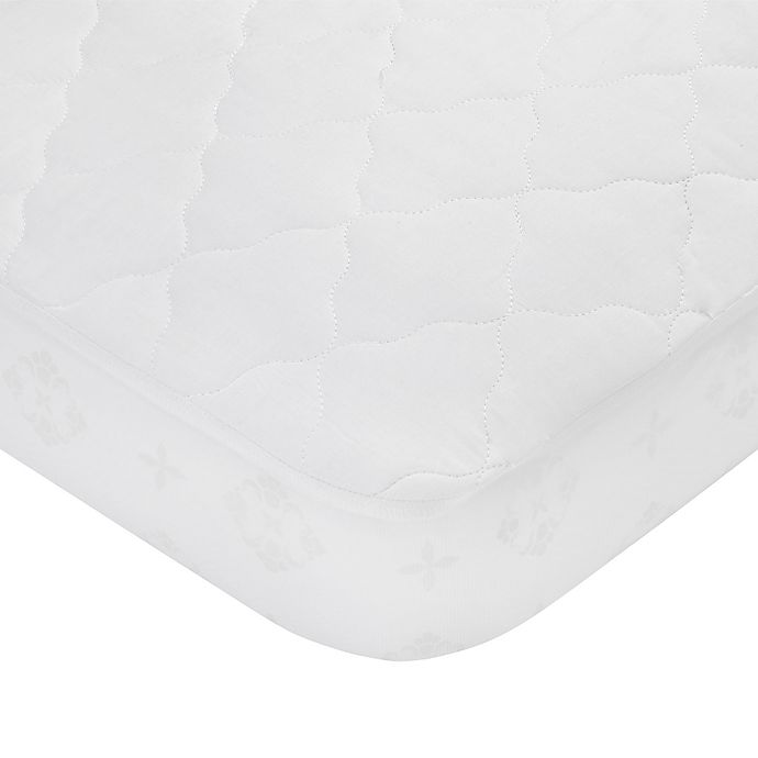 Alternate image 1 for carter's® Waterproof Cotton Fitted Quilted Crib Pad
