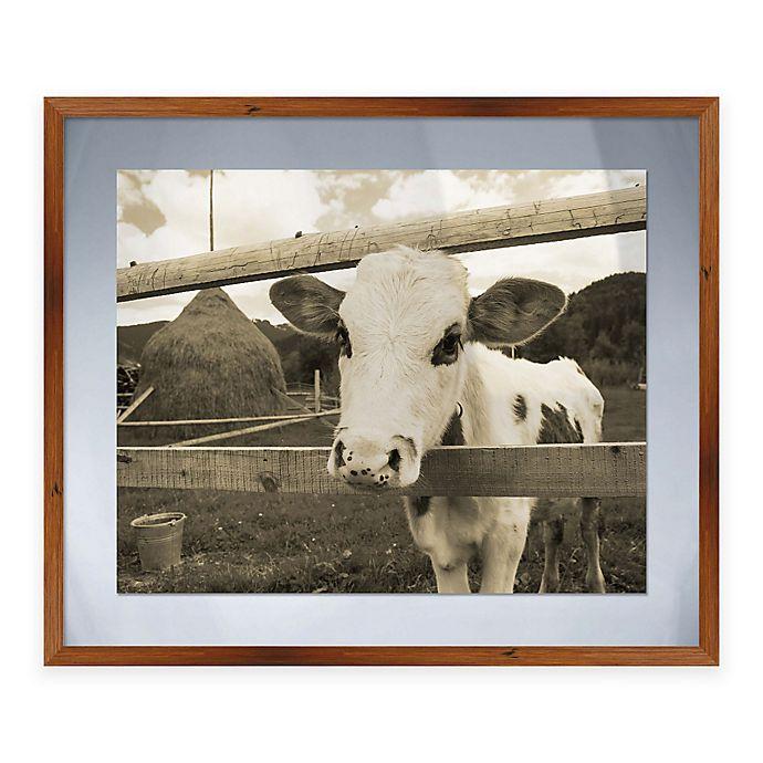 Alternate image 1 for Peeking Calf Framed Graphic Art