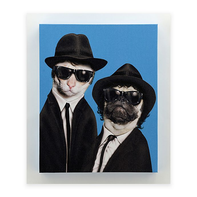 Alternate image 1 for Pets Rock™ Brothers 16-Inch x 20-Inch Canvas Wall Art