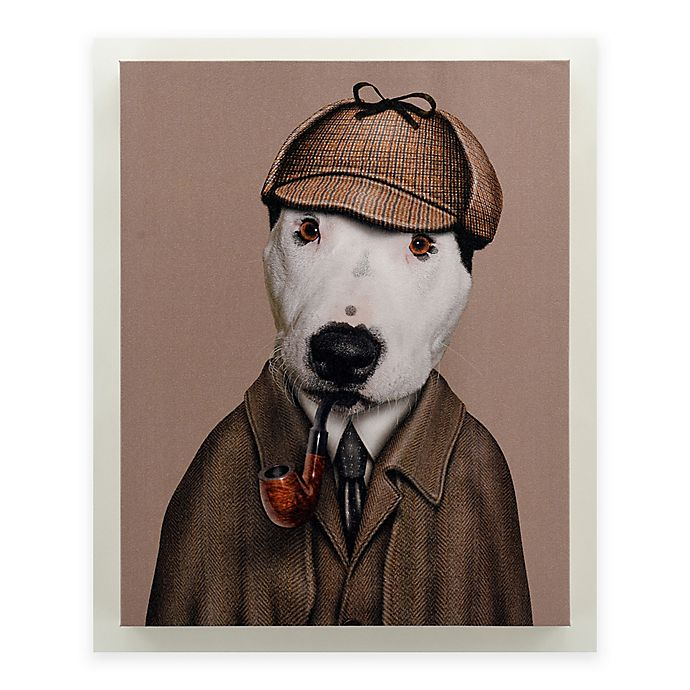Alternate image 1 for Pets Rock™ Detective Canvas Wall Art