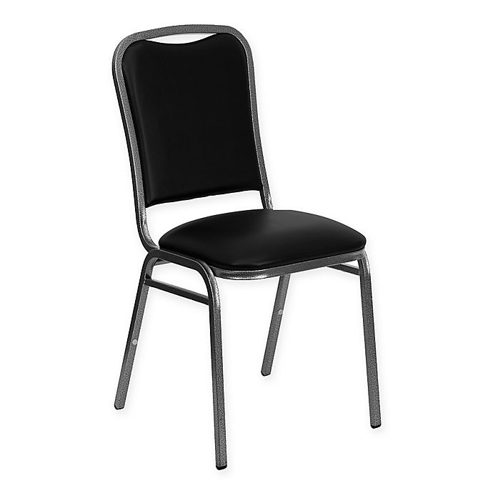 Alternate image 1 for Flash Furniture HERCULES Banquet Chairs in Black Vinyl (Set of 4)