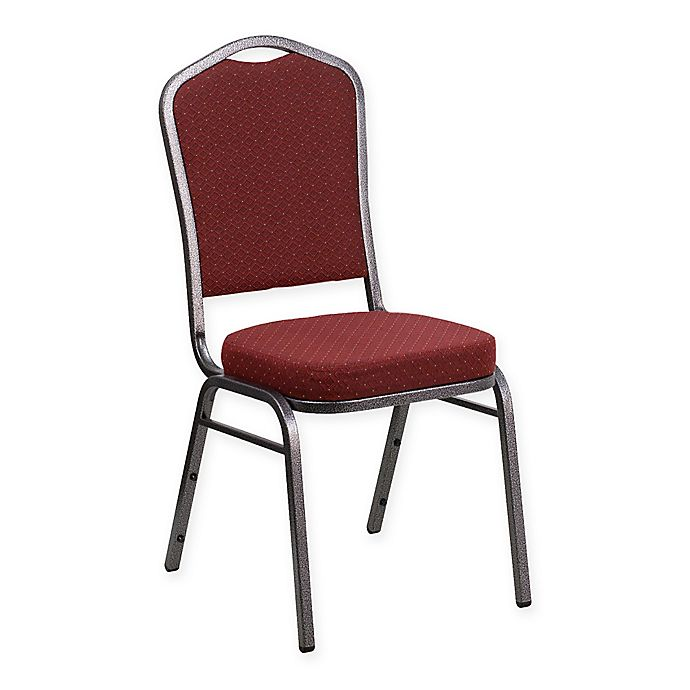 Alternate image 1 for Flash Furniture HERCULES Banquet Chairs in Burgundy Fabric (Set of 4)