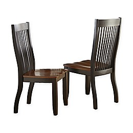 Steve Silver Co. Lawton 2-Piece Side Dining Chair in Black/Brown