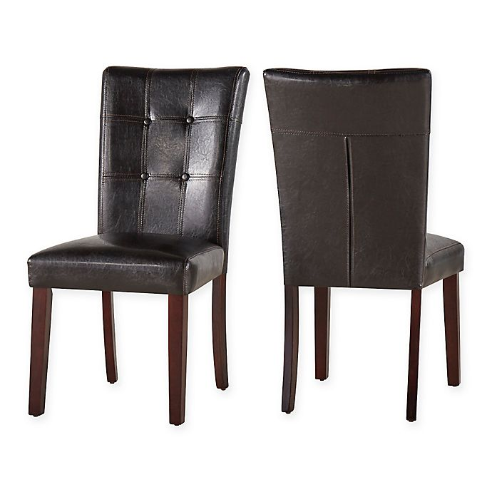 Alternate image 1 for Verona Home Hennig Side Chair in Brown (Set of 2)