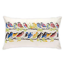 Mina Victory Bird On A Wire 24-Inch x 14-Inch Outdoor Throw Pillow