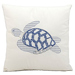 Mina Victory Sea Turtle 18-Inch Square Outdoor Throw Pillow