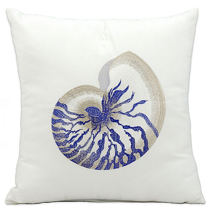 Alternate image 1 for Mina Victory Blue Conch 18-Inch Square Indoor/Outdoor Throw Pillow