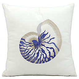 Mina Victory Blue Conch 18-Inch Square Indoor/Outdoor Throw Pillow