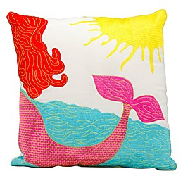 Mina Victory Mermaid Square Outdoor Throw Pillow
