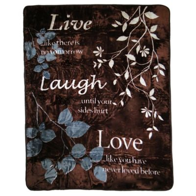 Live Laugh Love Oversized Throw Bed Bath Beyond
