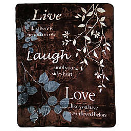"""Live Laugh Love"" Oversized Throw"