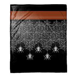 Halloween Spider Trim Throw Blanket