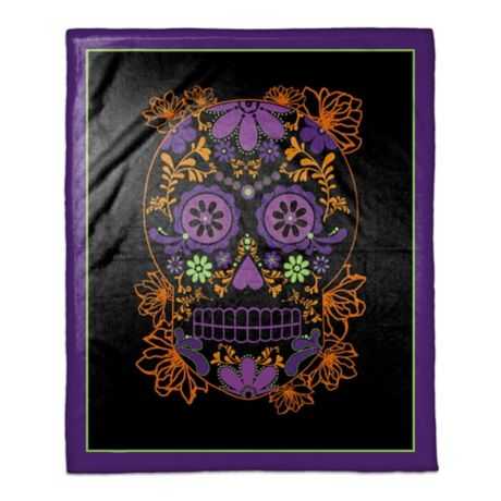 Halloween Sugar Skull Throw Blanket Bed Bath Amp Beyond