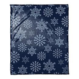 Snowflakes Falling Throw Blanket