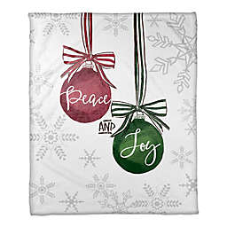 Peace and Joy Ornaments Throw Blanket