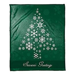 Snowflake Tree Throw Blanket