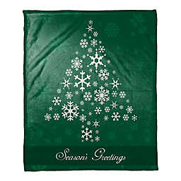 Snowflake Tree Throw Blanket