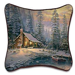 Christmas Retreat Square Throw Pillow