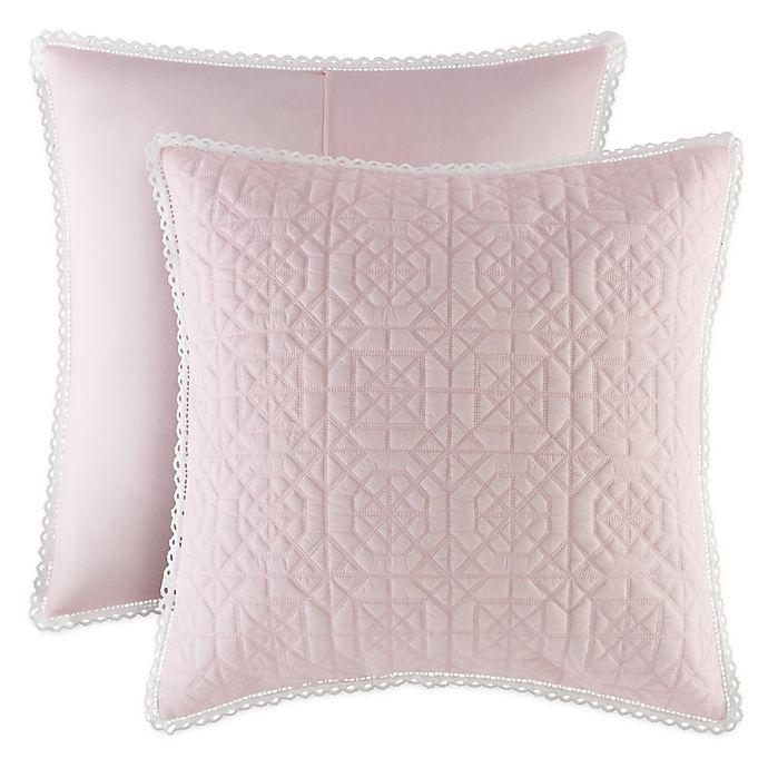 Alternate image 1 for Piper & Wright Rosalie European Pillow Sham in Pink