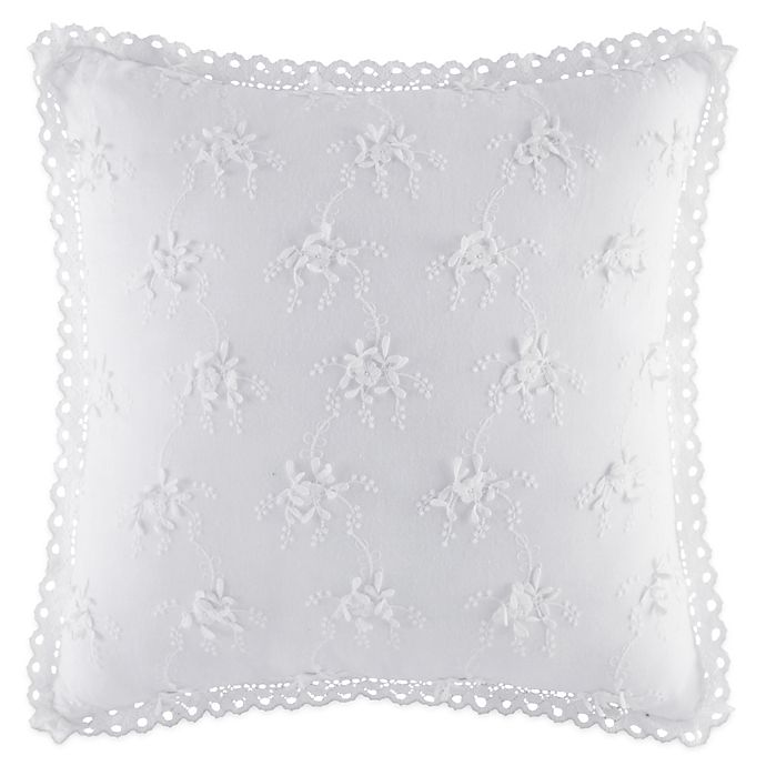 Alternate image 1 for Piper & Wright Rosalie 3D Floral Throw Pillow in White