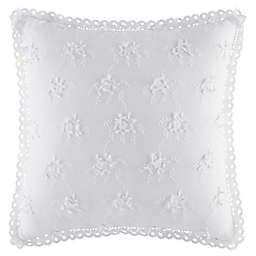 Piper & Wright Rosalie 3D Floral Throw Pillow in White