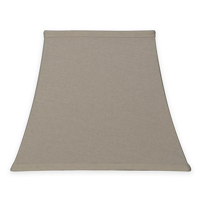 Alternate image 1 for Large 14-Inch Softback Square Lamp Shade in Taupe