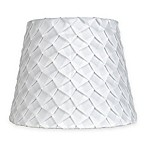 Mix & Match Small 9-Inch Textured Pleat Lamp Shade in White