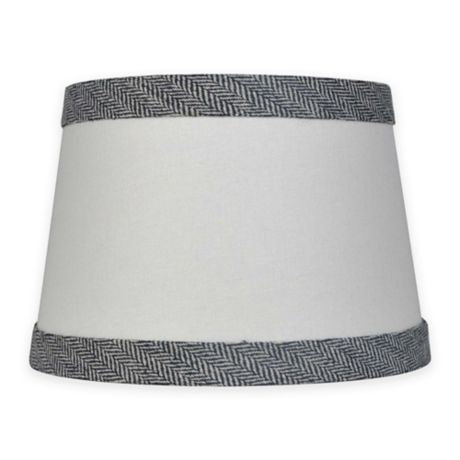 Mix Amp Match Small 10 Inch Textured Black Trim Lamp Shade