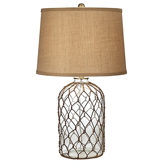 Alternate image 1 for Pacific Coast Lighting® Castaway Table Lamp with Burlap Shade